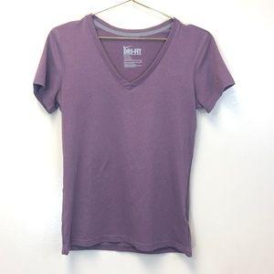 NIKE Purple V-Neck Dri Fit Tee